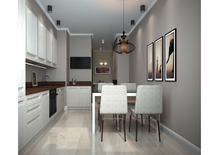 minimalistic Kitchen by Альбина Романова