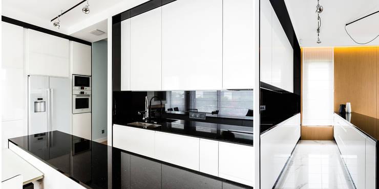 mieszkanie prywatne 3 pokoje - Nowe Orłowo - Gdynia : styl , w kategorii Kuchnia zaprojektowany przez Anna Maria Sokołowska Architektura Wnętrz ,