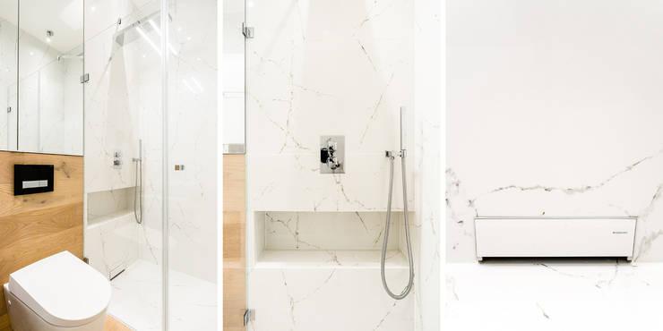 mieszkanie prywatne 3 pokoje – Nowe Orłowo – Gdynia : styl , w kategorii Łazienka zaprojektowany przez Anna Maria Sokołowska Architektura Wnętrz