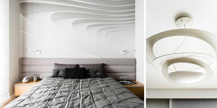 mieszkanie prywatne 3 pokoje – Nowe Orłowo – Gdynia : styl , w kategorii Sypialnia zaprojektowany przez Anna Maria Sokołowska Architektura Wnętrz