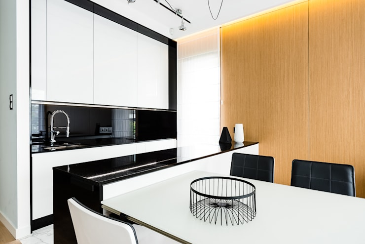 mieszkanie prywatne 3 pokoje – Nowe Orłowo – Gdynia : styl , w kategorii Kuchnia zaprojektowany przez Anna Maria Sokołowska Architektura Wnętrz ,