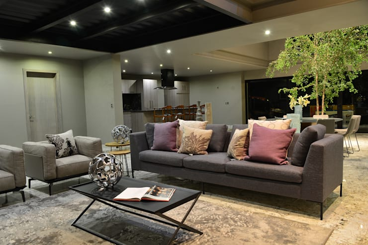 Living room by Con Contenedores S.A. de C.V.
