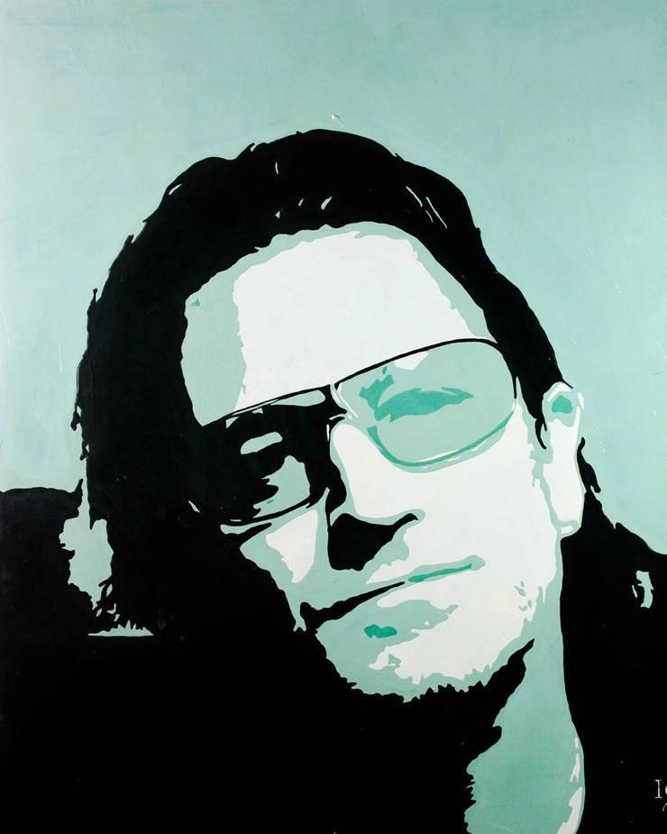 Bono: Vestíbulos, pasillos y escaleras de estilo  por Galeria Ivan Guaderrama