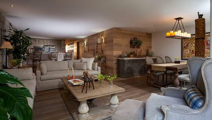 Departamento Goldsmith: Salas de estilo mediterraneo por JR Arquitectos
