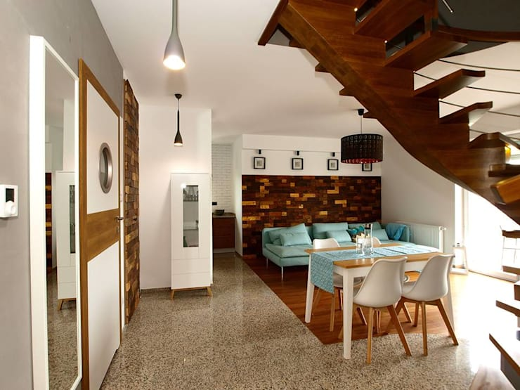 Panele ścienne klepka Mozaika drewniana: styl , w kategorii Ściany i podłogi zaprojektowany przez Atelier Projekt UmM,
