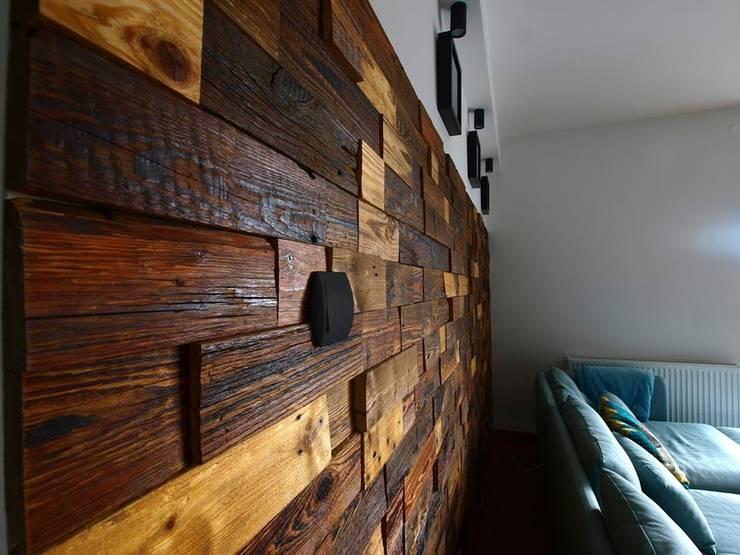 Panele ścienne klepka Mozaika drewniana: styl , w kategorii Ściany i podłogi zaprojektowany przez Atelier Projekt UmM