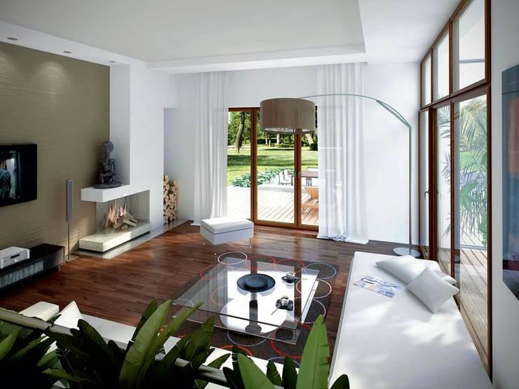 Wnętrze projektu Jaspis 6: styl , w kategorii Salon zaprojektowany przez Biuro Projektów MTM Styl - domywstylu.pl