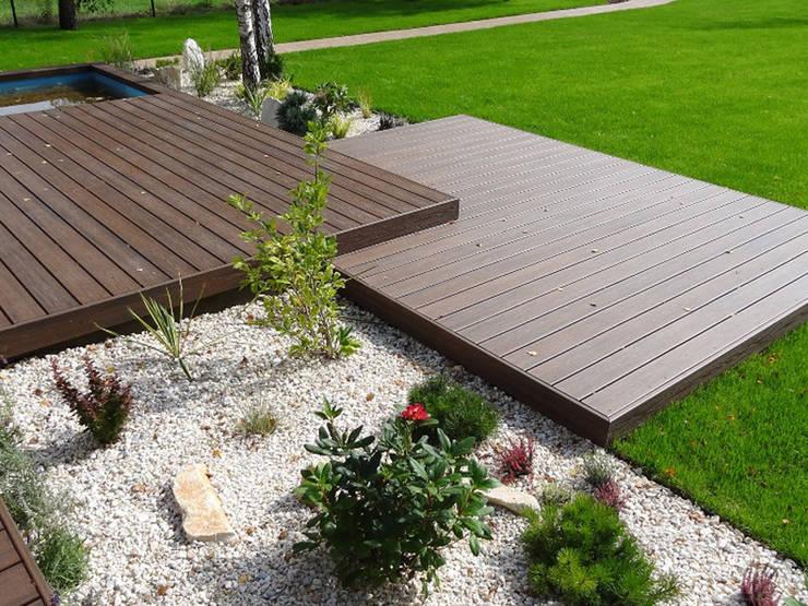 modern Garden by Biuro Projektów MTM Styl - domywstylu.pl