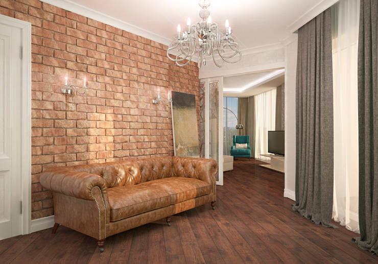 Couloir et hall d'entrée de style  par Виталия Бабаева и Дарья Дикая, Classique