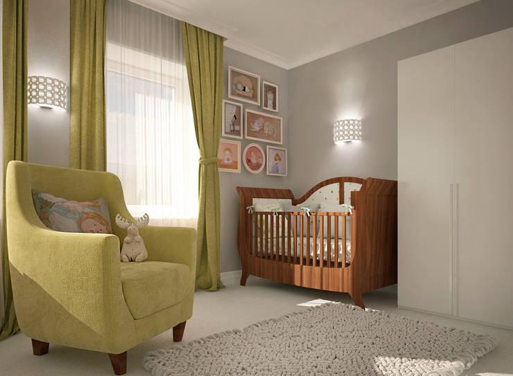 Chambre d'enfant de style  par Виталия Бабаева и Дарья Дикая, Classique