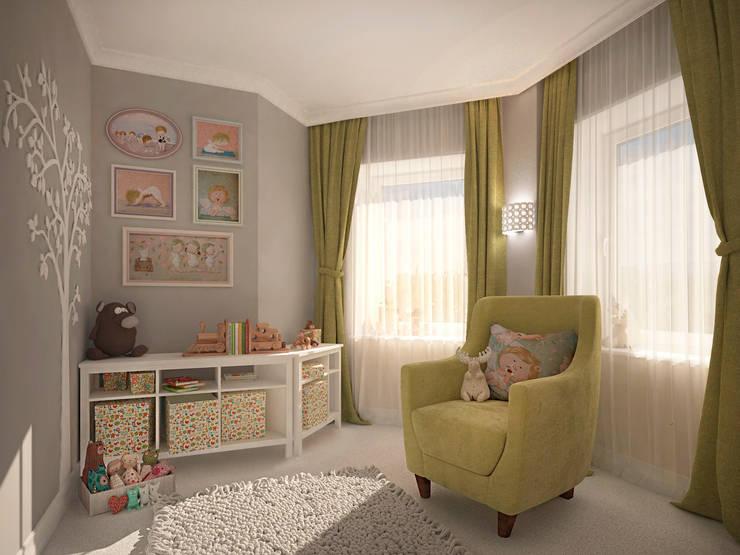 Квартира на 23-ем этаже. Классика в современной интерпретации.: Детские комнаты в . Автор – Виталия Бабаева и Дарья Дикая