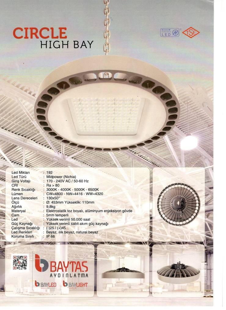 BAYTAŞ LIGHTING PROJECT CONTRACT MANUFACTURING INDUSTRY LTD. INC.CO. – CIRCLE HIGH BAY:  tarz Garaj / Hangar