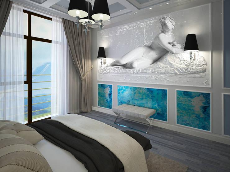 изысканный фьюжн: Спальни в . Автор – Decor&Design,