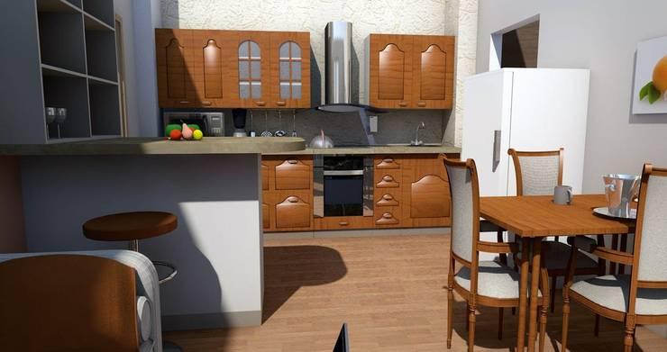 Визуализация кухни в классическом стиле:  в . Автор – Мастерская Дизайна