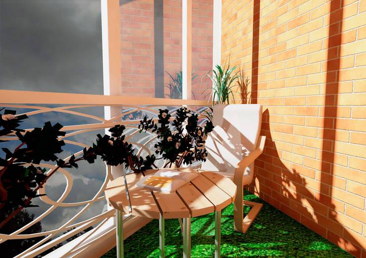 Балкон:  в . Автор – Мастерская Дизайна,