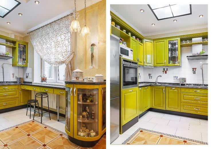 Квартира с архитектурной темой : Кухни в . Автор – Ольга Макарова (Экодизайн)