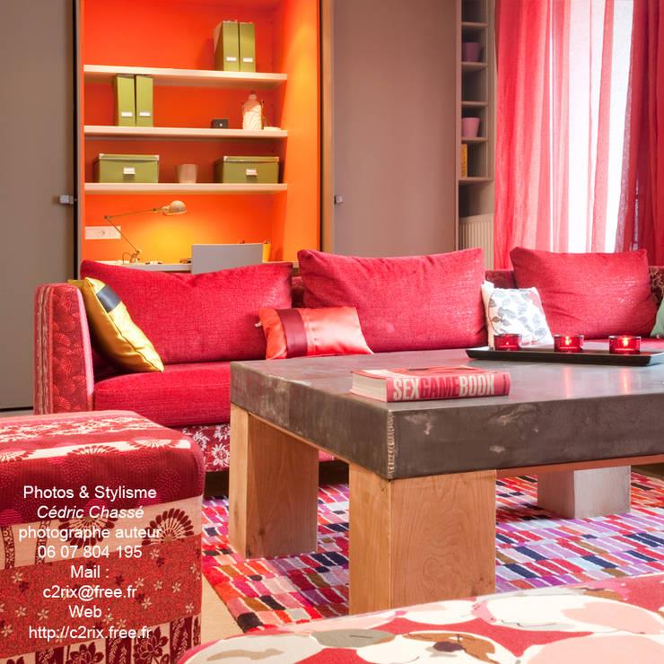 Le salon: Salon de style de style eclectique par Tabary Le Lay