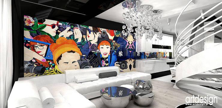 nowoczesny salon: styl , w kategorii Salon zaprojektowany przez ARTDESIGN architektura wnętrz