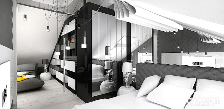 sypialnia: styl , w kategorii Sypialnia zaprojektowany przez ARTDESIGN architektura wnętrz