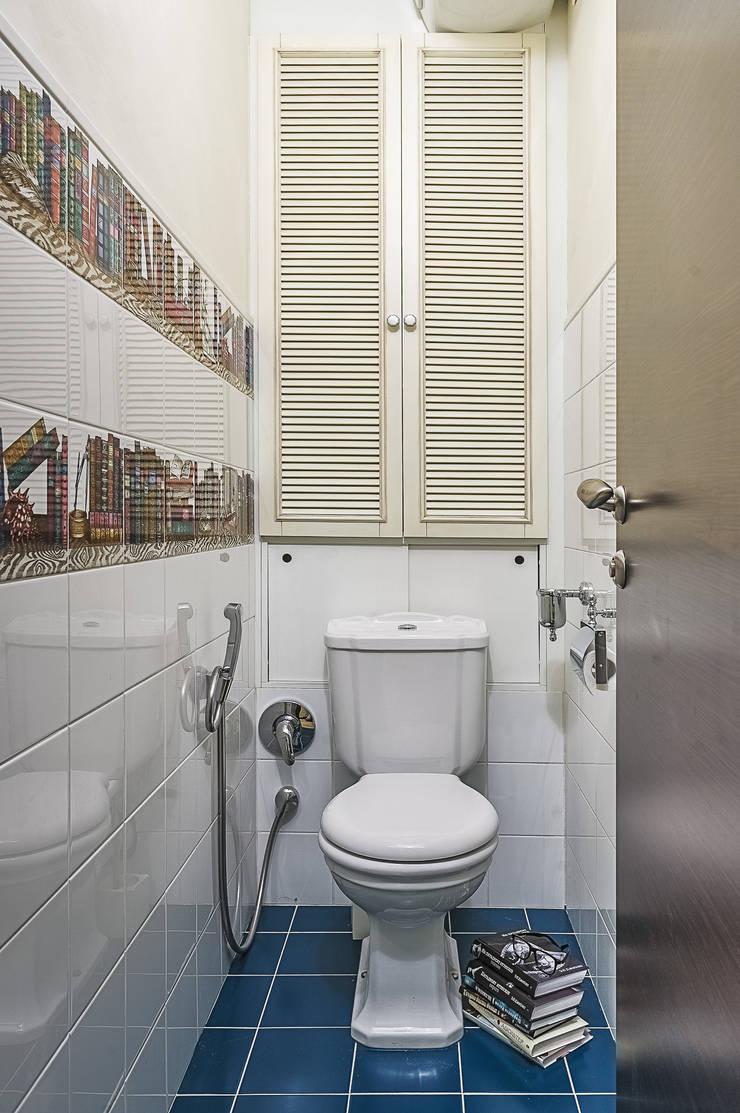 Квартира с архитектурной темой : Ванные комнаты в . Автор – Ольга Макарова (Экодизайн)