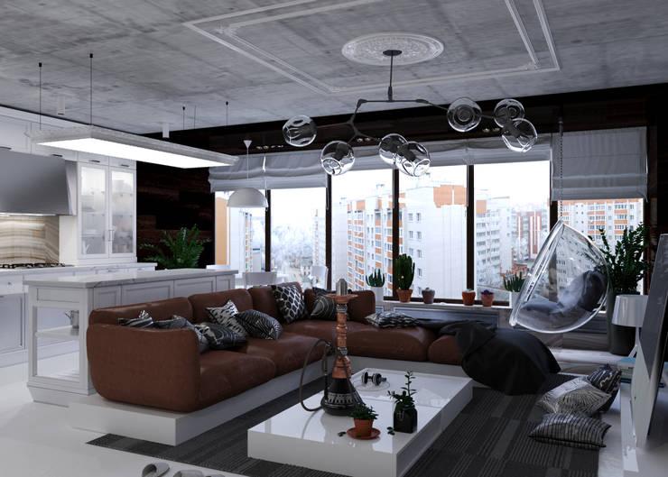 Студия: Гостиная в . Автор – 3D GROUP