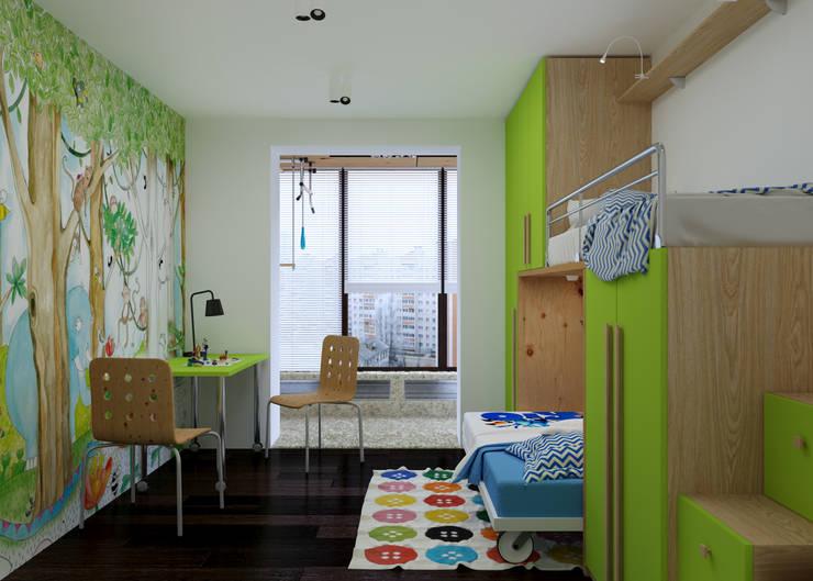 Projekty,  Pokój dziecięcy zaprojektowane przez 3D GROUP