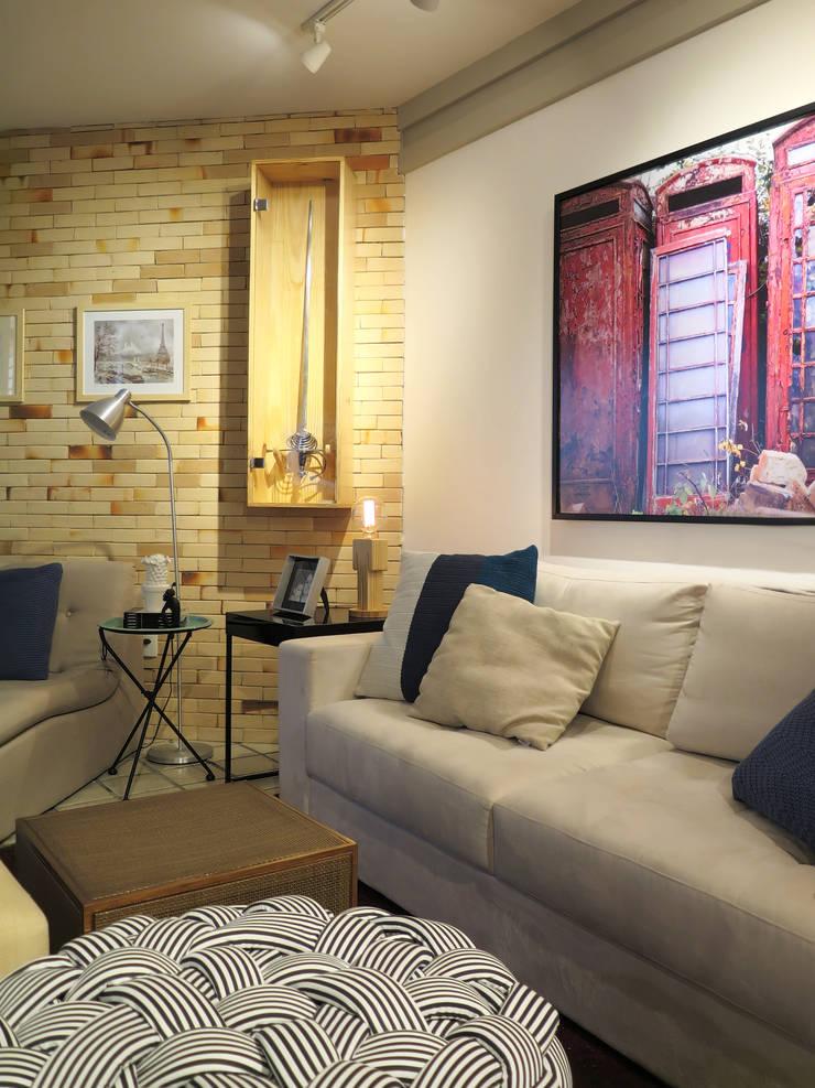 Apartamento CP: Salas de estar  por Rede Arquitetos,