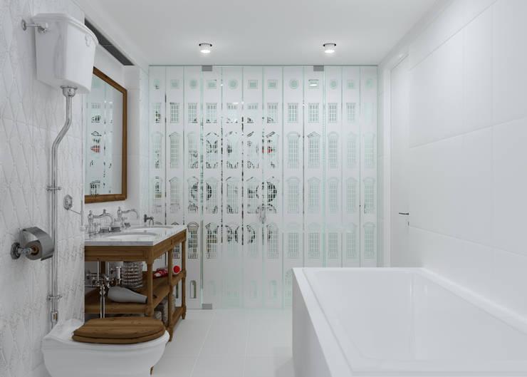 Ванная Fornasetti: Ванные комнаты в . Автор – 3D GROUP