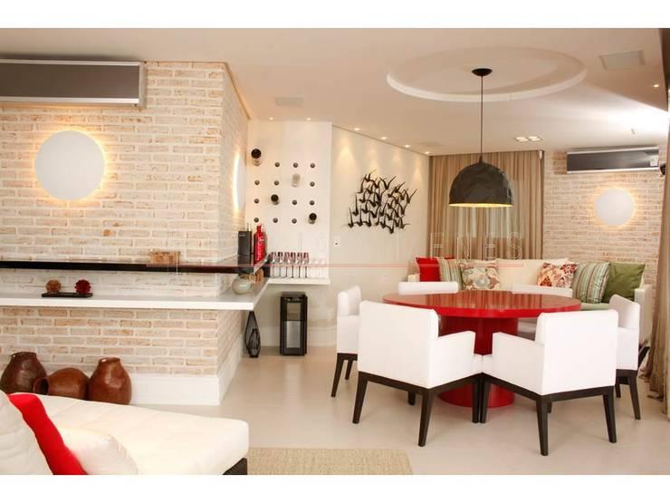 غرفة المعيشة تنفيذ LX Arquitetura