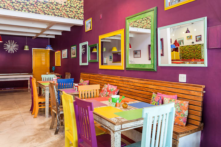 Restaurante Mangaba: Espaços gastronômicos  por Figoli-Ravecca Arquitetos Associados