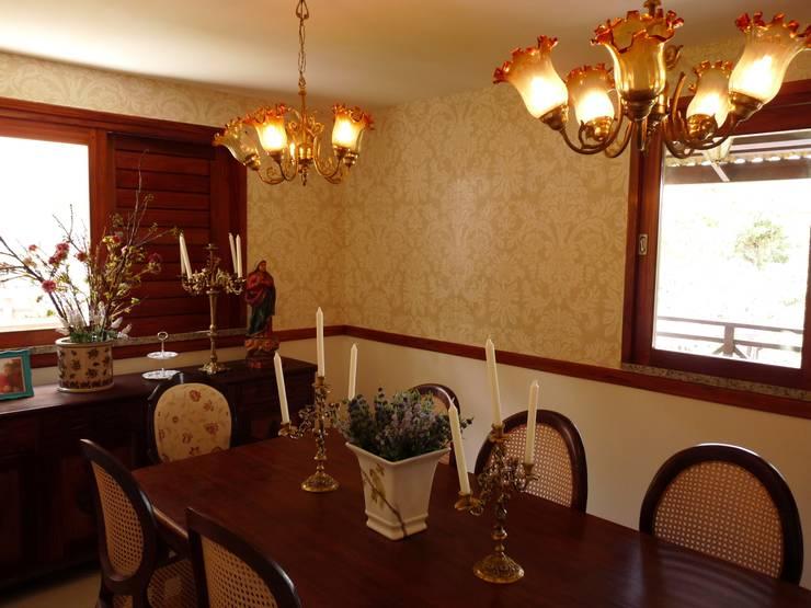 Sala de Jantar: Salas de jantar  por Eveline Sampaio Arquiteta e Designer de Interiores,