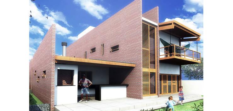Casa Pátios: Casas  por Rede Arquitetos