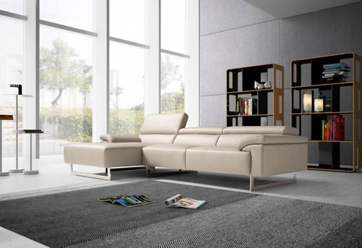 Sofá modelo Rosa, un diseño novedoso para tu salón: Salones de estilo  de Divano´s