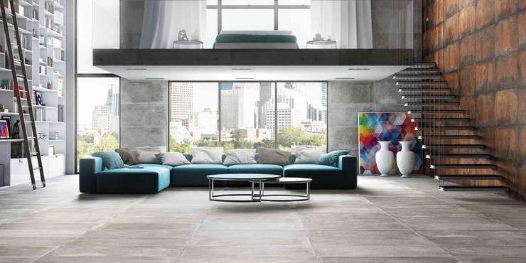 Salas de estilo industrial por Eliane Revestimentos