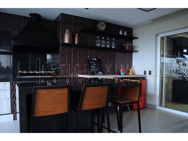 Churrasqueira: Cozinhas modernas por LX Arquitetura