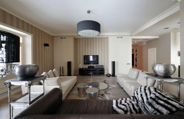 Квартира на Староволынской: Гостиная в . Автор – Дизайн-студия «ARTof3L»