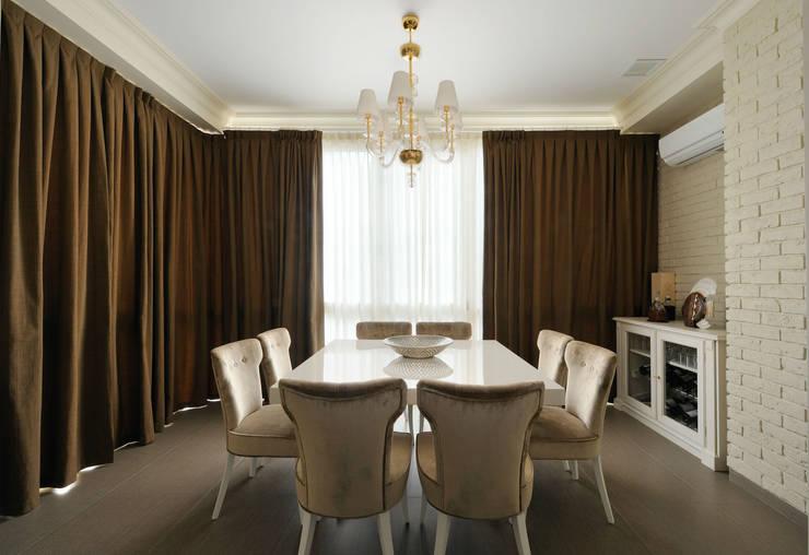 Квартира на Староволынской: Столовые комнаты в . Автор – Дизайн-студия «ARTof3L»