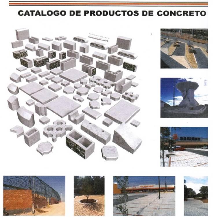 CONCRETO: Casas de estilo  por ENFOQUE CONSTRUCTIVO