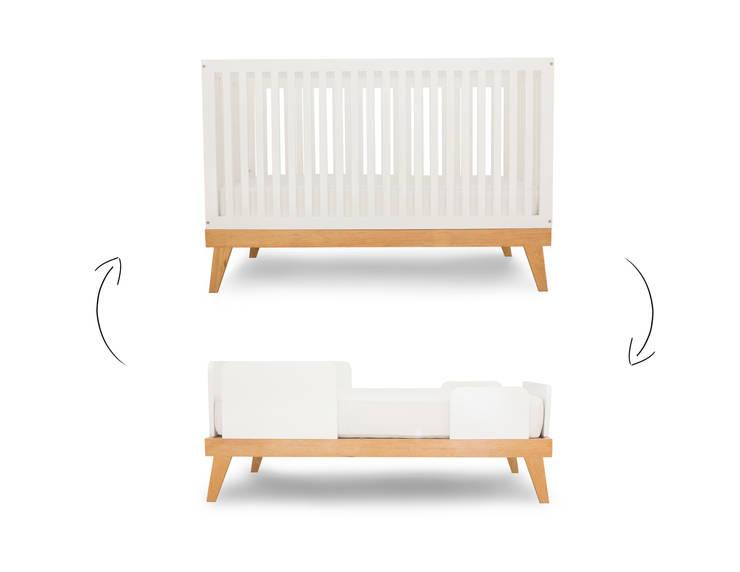 Cuna y cama bee: Habitaciones infantiles de estilo  por Miostudio