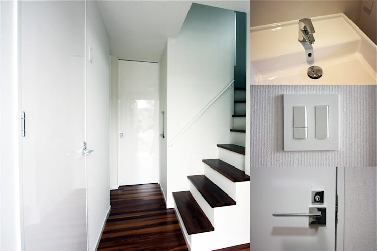 Corridor & hallway by atelier shige architects /アトリエシゲ一級建築士事務所, Modern Wood Wood effect