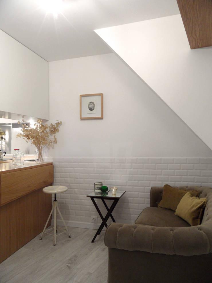 Sala e Cozinha: Cozinhas  por BL Design Arquitectura e Interiores