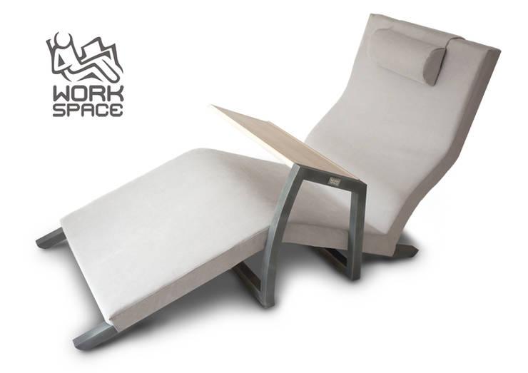 WorkSpace pro: styl , w kategorii Domowe biuro i gabinet zaprojektowany przez FINITA Tomasz Janiszewski,