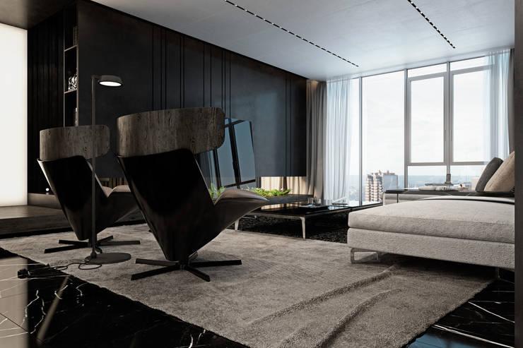Apartment in Kiev. Ukraine: Гостиная в . Автор – Diff.Studio