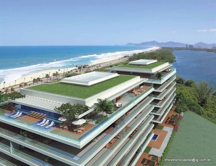 Grand Hyatt Residences - Suítes Residenciais - Barra da Tijuca: Terraços  por Imóveis Rio Capital