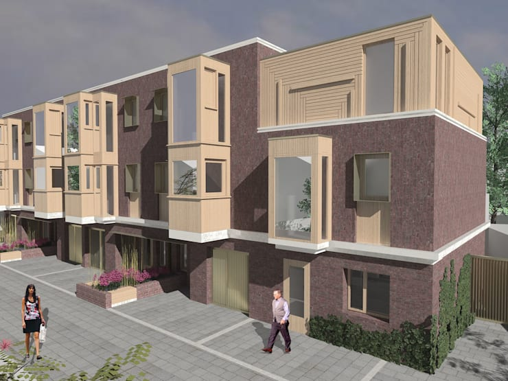 Brent Townhouses:  Houses by Satish Jassal Architects