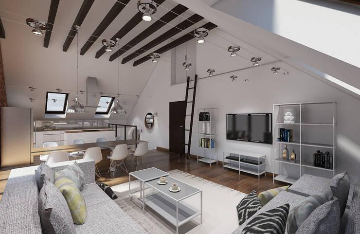Salas de estilo industrial de Creoline Industrial