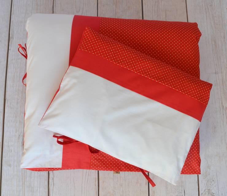 POŚCIEL Czerwone kropeczki: styl , w kategorii Pokój dziecięcy zaprojektowany przez ULULA