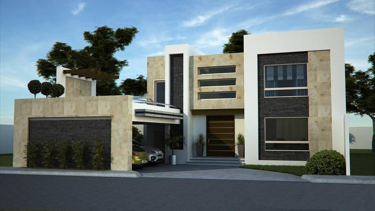 Casas de estilo  de GA-Arquitecto