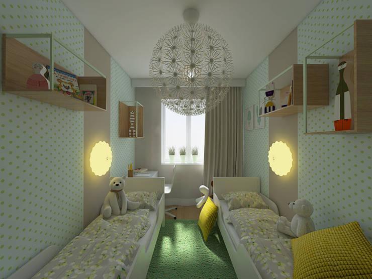SAMA SŁODYCZ – POKÓJ DZIECIĘCY: styl , w kategorii Pokój dziecięcy zaprojektowany przez Creoline,Nowoczesny