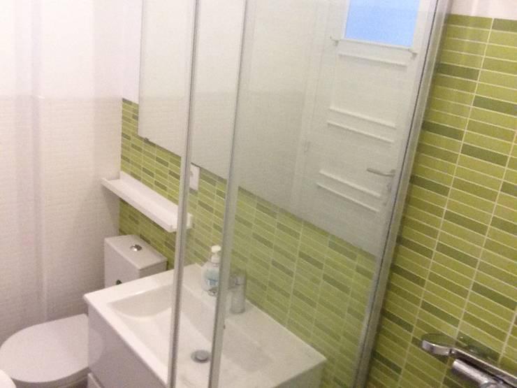 Recuperação de Estúdio: Casas de banho  por Gabiurbe, Imobiliária e Arquitetura, Lda